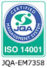 JQA CERTIFIED MANAGEMENT SYSTEM QUALITY SYSTEM ISO14001 JQA-EM7358
